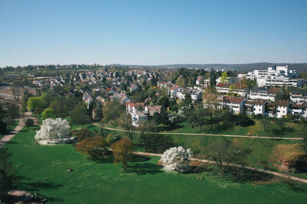 Bild Aussicht Stuttgart Höhenpark Killesberg Aussichtsturm