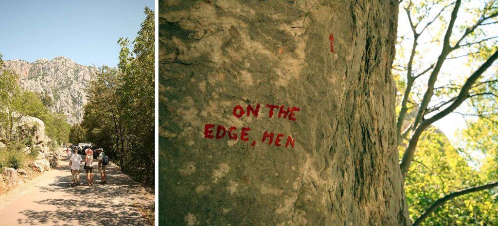 Parkeingang Felswand Felsmassiv