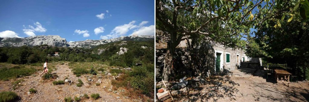 Landschaft um die Hütte