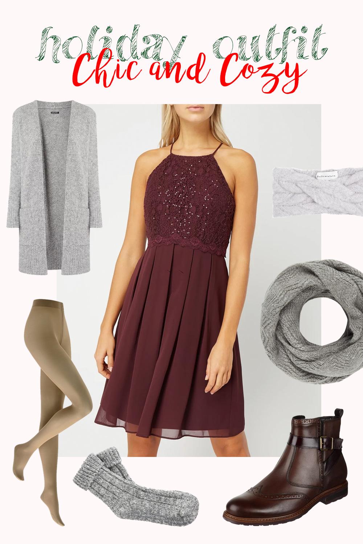 Outfit Idee für Weihnachten und Silvester